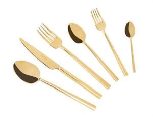 Tantitoni 36 Parça Gold Titanyum Dublın Paslanmaz Çelik Çatal Bıçak Kaşık Takımı