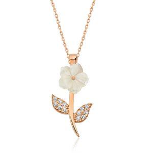 Gümüş Manolya Çiçeği Bayan Kolye