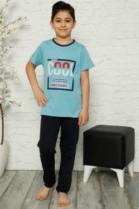 Akbeniz Çocuk Pamuk Kısa Kollu Pijama Takımı 4573