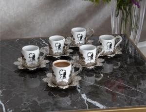 Sena Damla Baskılı Kahve Fincanı (6'lı Kutu) 337-K-ATATÜRK 11
