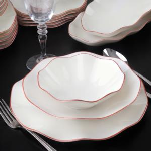 Güral Porselen 26 Parça Copper Bone Yemek Seti