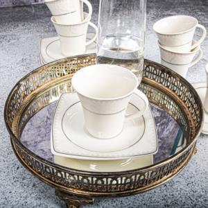 Güral Porselen 12 Parça Caroline Türk Kahvesi Takımı 5450
