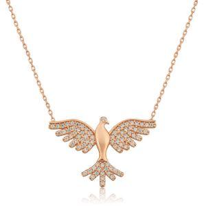 Gümüş Kuş Bayan Kolye