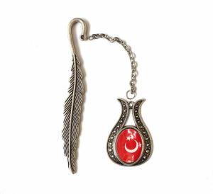 Türk Bayrağı Çini Takı Kitap Ayracı 8764DS712