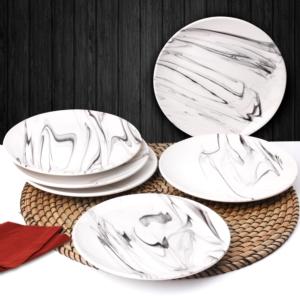 Hülger Seramik Mermer Pasta Tabağı 6