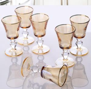 Paşabahçe Workshop 6'lı Victoria Kahve Yanı Bal Su Bardağı 440040-bal