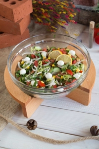 Gardenıa Salata Kasesi- Ahşap Standlı P53583 &UP00212