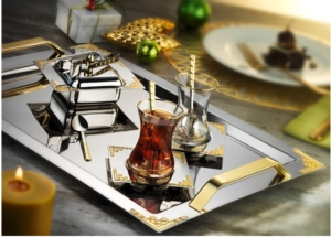 İslamoğlu 40 Parça Hürrem Çay Seti Gold