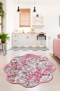 Chilai Home Rosa Pink Shape Banyo Halısı Djt