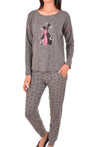 Nicoletta Kadın Pijama Takımı Uzun Kollu Cepli Pamuk