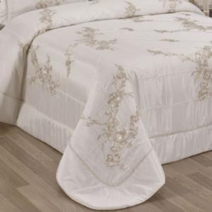 Evlen Home 4 Parça Alissium Krem Çift Kişilik Yatak Örtüsü YAT-29914