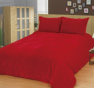 Skylife Bürümcüklü Kırmızı Yatak Örtüsü Takımı SKY30