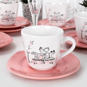 Keramika Tatlı Düş Çay Takımı 12 Parça 6 Kişilik