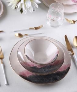 Acar 24 Parça Lotus Porselen Yemek Takımı