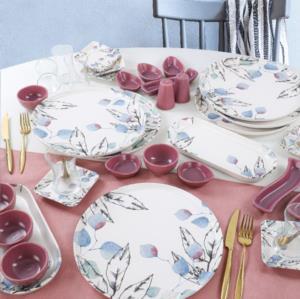 Keramika Leaf Kahvaltı Takımı 37 Parça 6 Kişilik