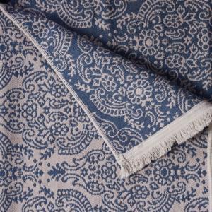 Karaca Home Harem Bej-Lacivert Çift Taraflı 80X150 cm Kilim