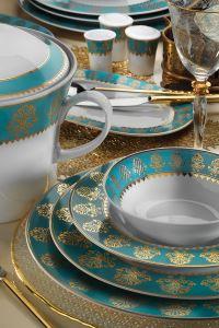 Kütahya Porselen İris 97 Parça 949714 Desen Yemek Takımı