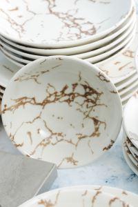 Lüx 24 Parça Porselen Yemek Takımı