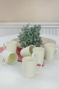 Keramika Krem Zen Kupa 08 Cm 6 Adet