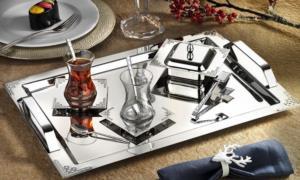 İslamoğlu Tiamo 40 Parça Hürrem Çay Seti Silver