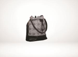Darkline Kadın Çavuş Desenli Siyah Deri Omuz Çanta