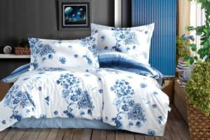 Seven Home Çift Taraflı Blue Gardenia Çift Kişilik Ranforce Nevresim Takımı