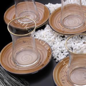 Özlife 12 Parça Damla Kahve Porselen Çay Seti- 932