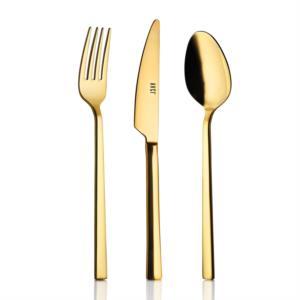 Avcı Klas Titanyum Gold Renk 60 Parça Çatal Kaşık Bıçak Takımı