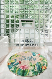 Chilai Home Hello Summer Djt Çap Banyo Halısı