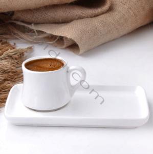 Alper Home 2 Parça Seramik Kahve Fincanı Beyaz