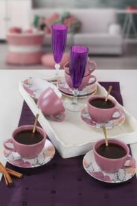 Keramika Lilia Çay Takımı 12 Parça 6 Kişilik