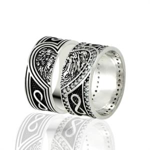 Gümüş Çift Alyans 5,28 gr EAL044