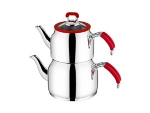 Taç Nesta Jumbo Boy Çaydanlık  Kırmızı