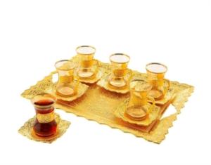 Sena Beyzade 6'lı Çay Seti (Tepsili) 162-A-K 18