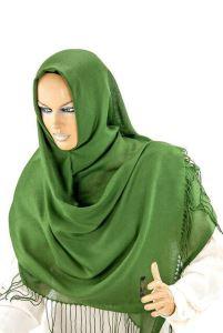 Pamuklu Paşmina Şal - Yeşil