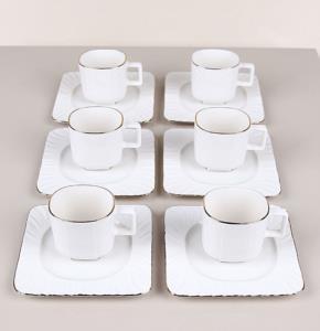 Bastonlu Züccaciye 12 Parça Porselen Kahve Takımı 62629