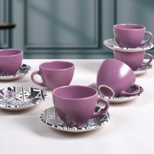 Keramika Leylak Çay Takımı 6 Kişilik 12 Parça - 18231