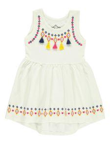 Cvl Kız Çocuk Elbise 2-5 Yaş Ekru