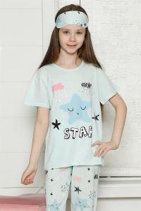 Akbeniz Çocuk Pamuk Kısa Kollu Pijama Takımı 4566