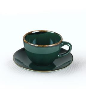 Keramika Zümrüt Çay Takımı 12 Parça 6 Kişilik