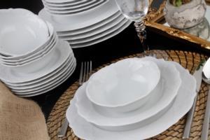 Porland Queen Beyaz 24 Parça 6 Kişilik Yemek Takımı
