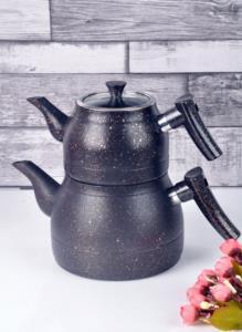 Bayev Granit Renkli Çaydanlık Takımı(Siyah)- 200459