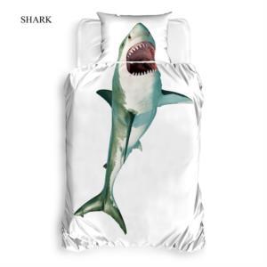 The Club Cotton 3D Baskılı Tek Kişilik Nevresim Takımı Shark