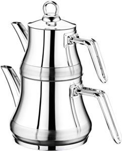 Oms Çelik Medium Çaydanlık Seti 8075