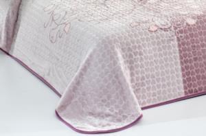Evlen Home Roses Çift Kişilik Mor Battaniye 220X240 cm (B12)