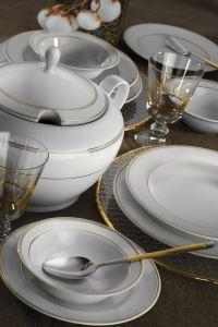 Kütahya Porselen 83 Parça 9813C Desenli Yemek Takımı