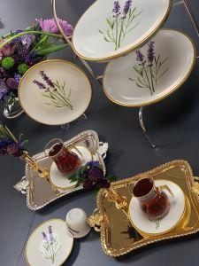 Asena Türk Kahve Seti 6 lı Lavender