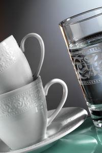 Kütahya Porselen Açelya 18 Parça Kahve Fincan Takımı