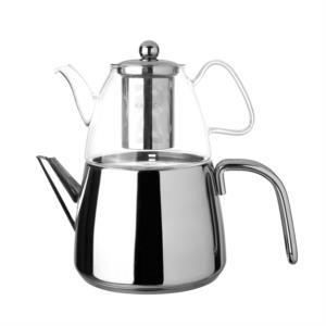 Karaca Amisos Cam Demlikli Çaydanlık Takımı