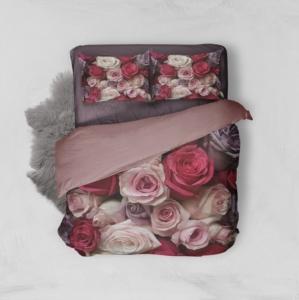 Minteks Çift Kişilik 3D Nevresim Takımı - Roses 16150